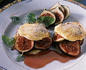 Sweet pancakes with figs