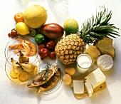 Verschiedene eiweisshaltige Nahrungsmittel