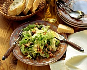 Endive salad with bacon and pumpkin seeds