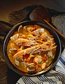 Cacciucco (fish and seafood stew), Tuscany, Italy