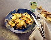 Pork medallions with green pepper and fennel
