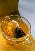 Cup of Darjeeling Tea with Tea Bag