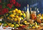 Fresh and bottled lemons and limes; lemon juice