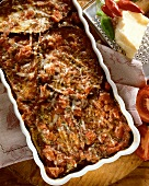 Aubergine bake with tomatoes and cheese