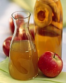 A Carafe and Bottle of Apple Vinegar; Apple