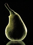 A Bartlett Pear with One Water Drop