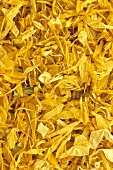 Dried marigold flowers (Calendula officinalis)