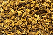 Ground dried gentian root (Gentiana lutea)