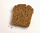 A slice of dark wholemeal bread