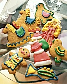 Decorated Gingerbread Christmas Cookies