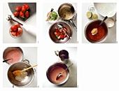 Erdbeer-Kokos-Creme zubereiten