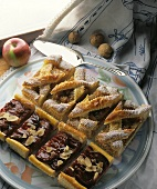 Apple puff pastry slices, plum puff pastry slices
