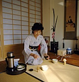 Japanese woman at the tea ceremony