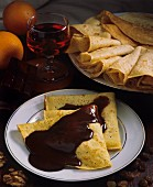 Hungarian filled pancakes (Gundel palacsinta)