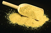Asafoetida on wooden scoop