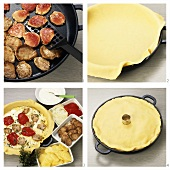 Making pork fillet and potato pie