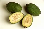 Three Guavas; One Cut in Half