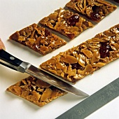 Cutting out diamond-shaped florentines