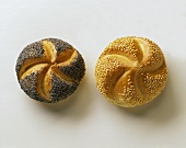 Poppy seed and sesame rolls