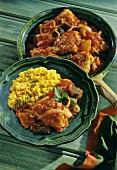 """Jamaican """"Jerk Chicken"""" with saffron rice"""
