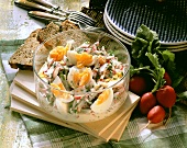 Egg salad with radishes and herbs