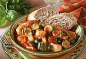 Mediterranean fish and vegetable stew