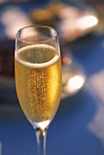 Sparkling champagne in champagne flute