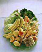 Gesunde Ernährung mit Ballaststoffen: Getreide,Obst,Gemüse