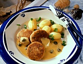 Sassnitz herring frikadellas with potatoes & caper sauce