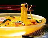 Oriental Noodle Soup; Chopsticks