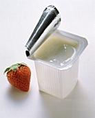 Plastic Container with Yogurt