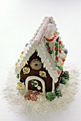 Gingerbread House with Snow