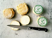 Wheels of Goat Cheese