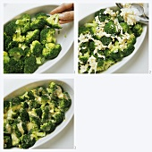 Making broccoli gratin