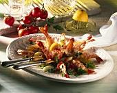 Marinated Shrimp on a Serving Platter