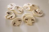 Slices of mushroom