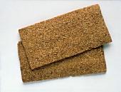 Two slices of Finn Crisp (crisp bread)