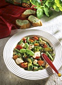 Minestrone al pollo (Vegetable stew with chicken, Italy)