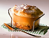 Pineapple souffle in glass dish