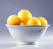 Potato Dumplings in Dish