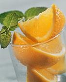 Orange Wedges in Glass