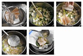 Preparing fish stock
