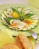 Carpaccio verde (marinated vegetables), Piedmont, Italy