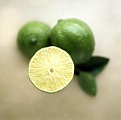 Half a lime and two limes