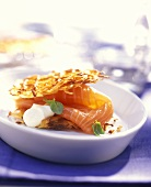 Potato waffles with Graved Lachs