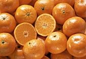 Tangerines, One Halved (Full Frame)
