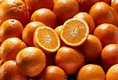 Oranges, One Halved (Full Frame)