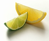 A Lime Wedge and an Orange Wedge