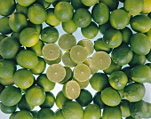 Lots of whole limes and a few halves