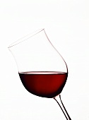 Glass of Chianti classico Riserva (medium ruby red colour)